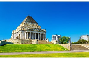 The Shrine of Remembrance in Melbourne, Australia