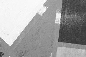 Paint Brick Wall Detail Black White