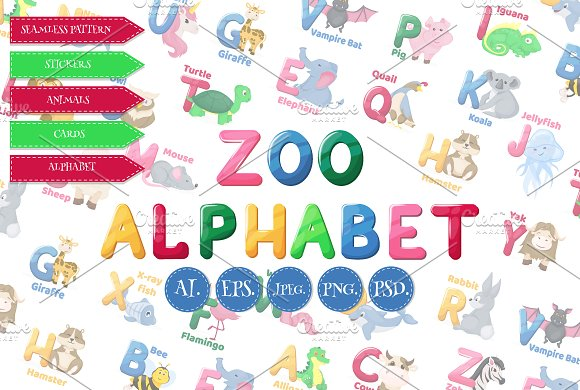 Animal Zoo Alphabet Big Collection