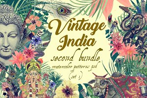 Vintage India 2. Pattens psd. Set 1.