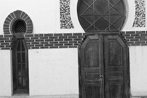 Moorish Door in Black and White