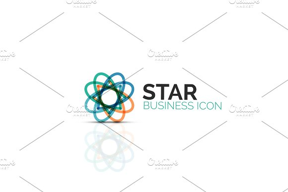Abstract Flower Or Star Minimalistic Linear Icon Thin Line Geometric Flat Symbol For Business Icon Design Abstract Button Or Emblem