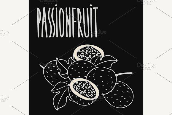 Chalkboard Ripe Passion Fruit