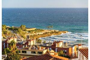 View of the Mediterranean Sea at Tarragona, Spain