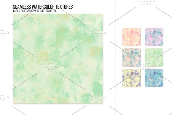Seamless Muted Watercolor Textures