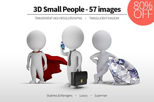 3D Small People - Set 01