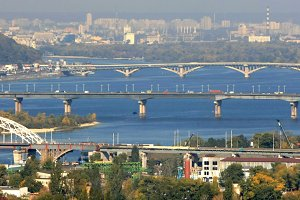 Cityscape & bridges, Kyiv, Ukraine