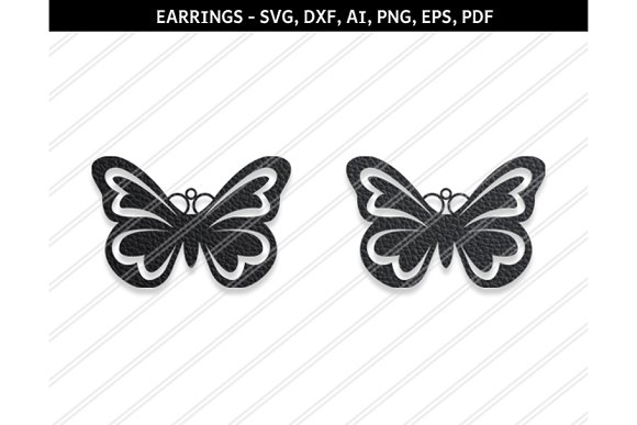 Butterfly Earring Svg Dxf Ai Eps Png