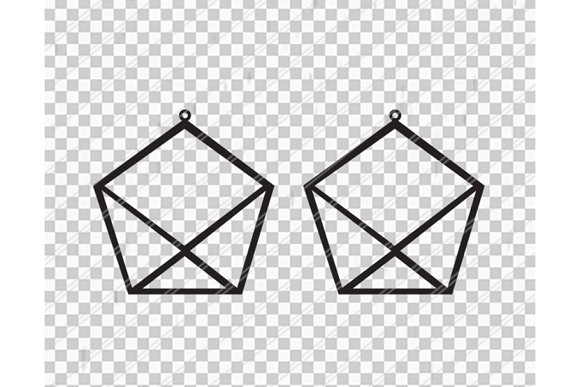 Pentagon earrings svg,dxf,ai,eps,png in Objects - product preview 1