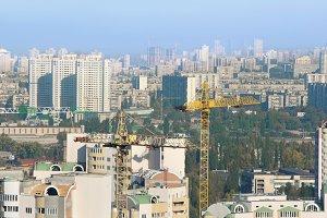Urban view. Kiev, Ukraine