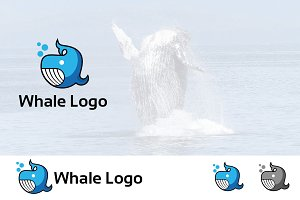 Whale Underwater Ocean Animal Logo