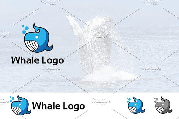 Whale Underwater Ocean Animal Logo