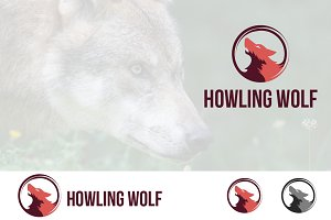 Wolf Head Howling Circle Logo