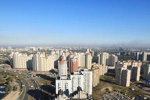 Urban cityscape, Kiev, Ukraine