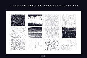 12 Assorted Texture
