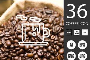 36x3 Coffee icons