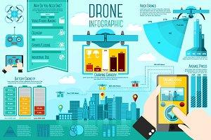 Drone Infographics set