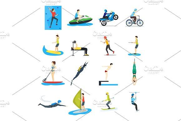 Extreme Sports People Set