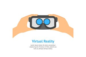 Hands Virtual Reality Headset Card