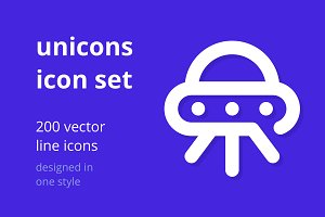 Unicons Icon Set - 200 line icons