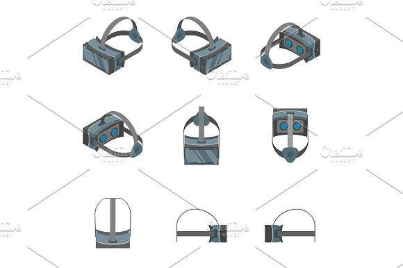 Virtual Reality Headsets Set