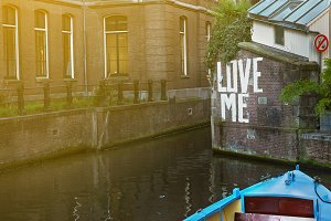 Love message in the canal