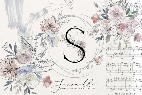 Sensuale Watercolor Floral Clipart
