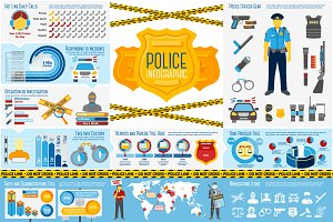 Police (law) infographics set