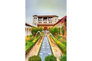 Generalife Palace in Granada, Spain