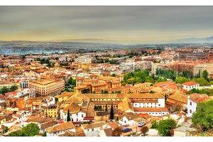 Panorama of Granada in Spain