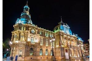 Palacio consistorial, the city hall of Cartagena, Spain