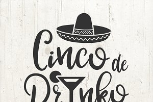 Cinco de Drinko Mayo SVG files