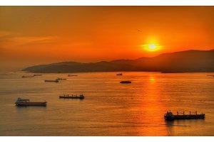 Sunset over the Bay of Gibraltar