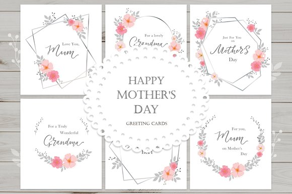 happy mother s day card templates creative market
