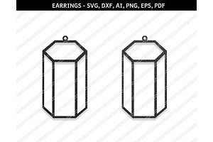 Cylindrical earrings svg,dxf,ai,eps