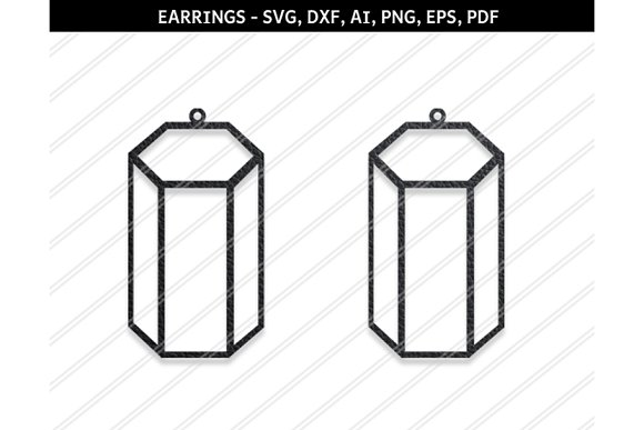 Cylindrical Earrings Svg Dxf Ai Eps