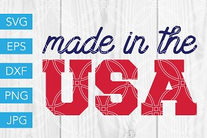 Made in the USA SVG 4th of July