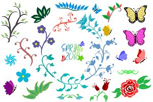 Set SVG Flowers