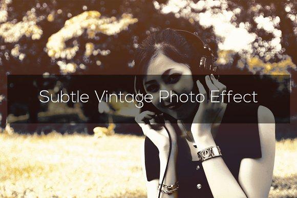 Subtle Vintage Photo Effect