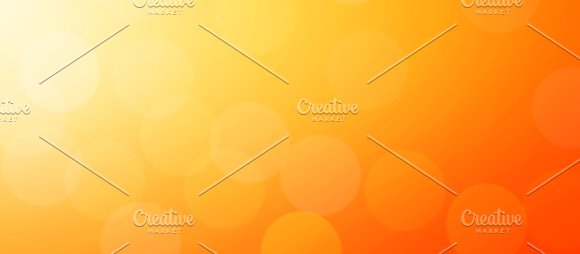 Abstract Orange Background Layout Design With Bokeh Light