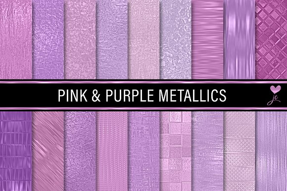 Pink And Purple Metallics