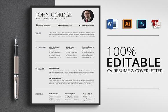 Word Office CV Resume