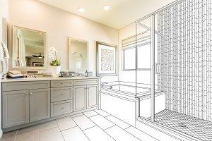 Master Bathroom Design Drawing/Photo