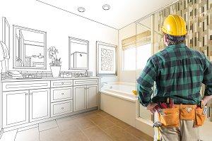 Contractor, Bathroom Drawing/Photo