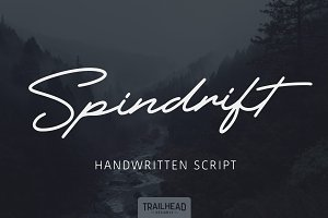 Spindrift Handwriting Script 4 Fonts