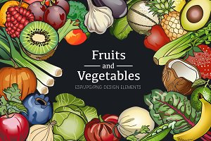 Fruit and Vegetable Vector Clip Art