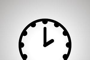 Clock face showing 2-00, simple icon