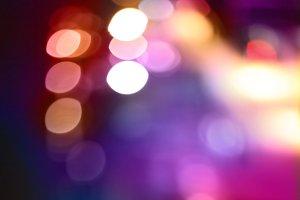 Abstract city lights blur