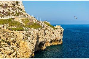 Seaside of Gibraltar at Europa Point