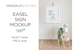 Wedding Easel Sign Mockup